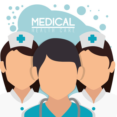medical staff professional characters vector illustration design