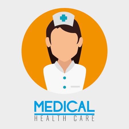 woman nurse professional character vector illustration design Иллюстрация