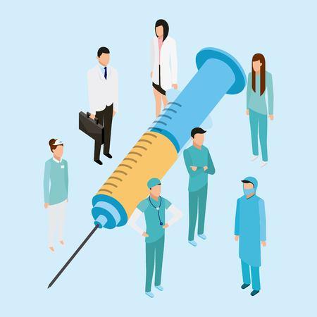 medical health big inyection medicine vector illustration Ilustração