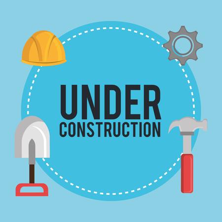 under construction equipment icons vector illustration design Illustration