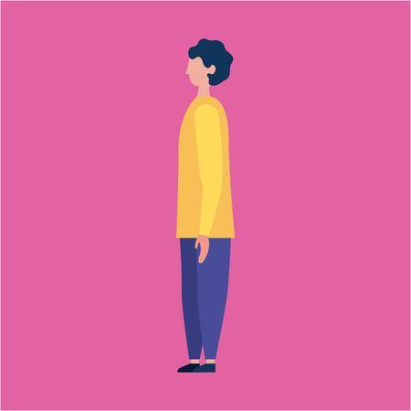 outdoor activities man standing vector illustration