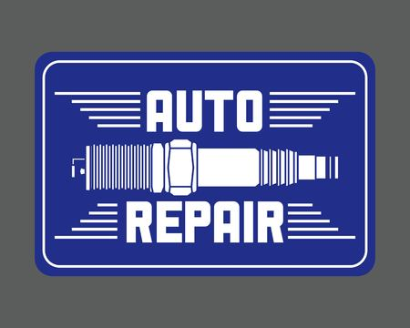 spark plug spare part auto repair vector illustration