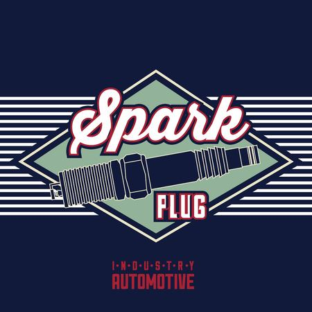 spark plug spare part industry automotive vector illustration 向量圖像