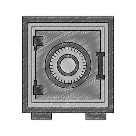 safe heavy box icon vector illustration design  イラスト・ベクター素材