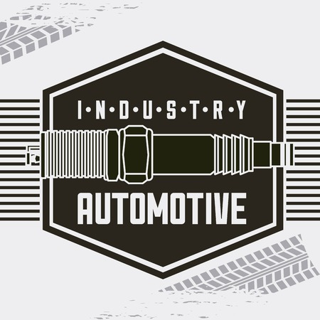 industry automotive spark plug auto part vector illustration