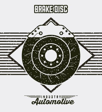 car wheel with brake disc industry automotive vector illustration Stock Illustratie