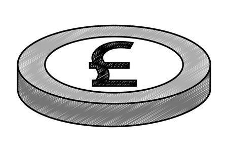 crypto money isometric icon vector illustration design Illustration