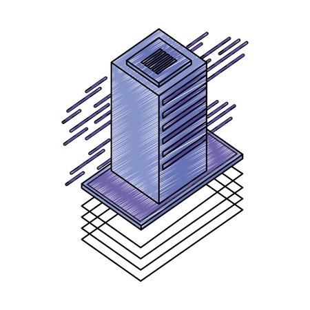 server data center isometric icon vector illustration design Stock Vector - 109952267