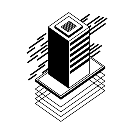 server data center isometric icon vector illustration design Stock Vector - 108337476