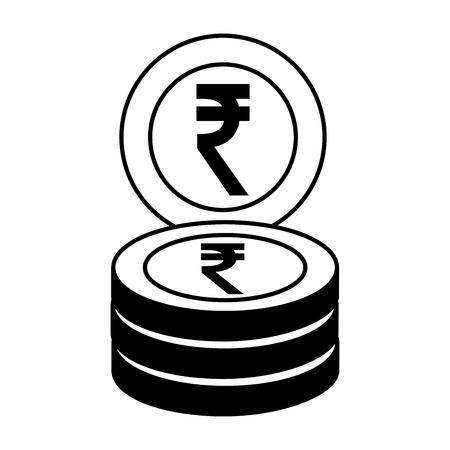pile of crypto money isometric icon vector illustration design