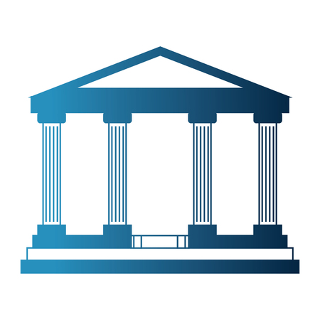 bank building isolated icon vector illustration design 向量圖像