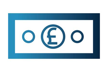 bill crypto money isometric icon vector illustration design