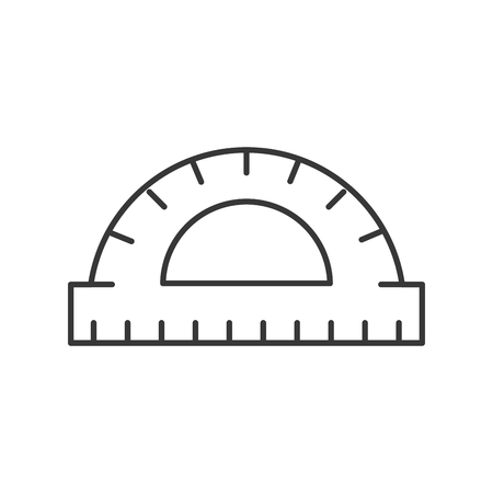 graphic design protractor angle measure tool vector illustration thin line