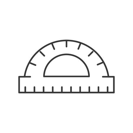 graphic design protractor angle measure tool vector illustration thin line
