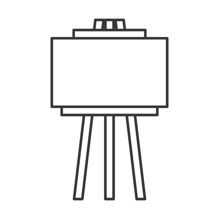 empty board tripod artistic tool vector illustration thin line