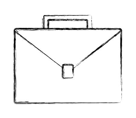 Maletín de negocios accesorio icono imagen vector ilustración dibujo a mano
