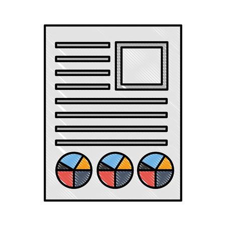 business resume report diagram document vector illustration Standard-Bild - 109952675