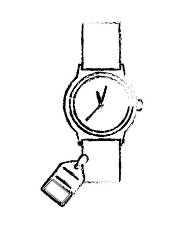 wristwatch with tag isolated icon vector illustration design 向量圖像