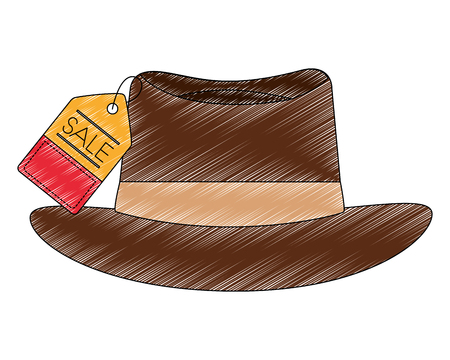 hat with tag commercial vector illustration design