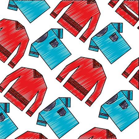 shirts male clothes pattern vector illustration design Illustration