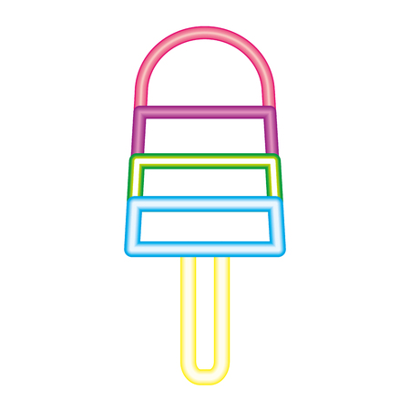köstliche Eiscreme-Neonbildvektorillustration