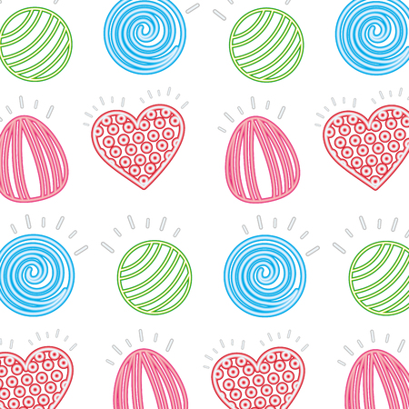 sweet candies bonbons delicious pattern vector illustration