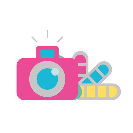 Ilustración de vector de tono de color de cámara fotográfica de diseño gráfico Ilustración de vector