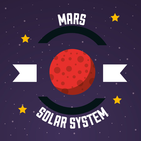 space solar system mars stars background vector illustration Ilustrace