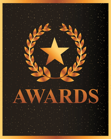 movie awards sign star prize vector illustration