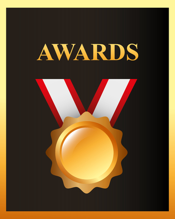 movie awards recognition badge sign vector illustration