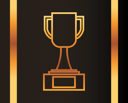 movie awards trophy winner vector illustration