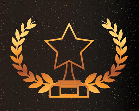 movie awards star prize recognition winner vector illlustration Reklamní fotografie - 108480478