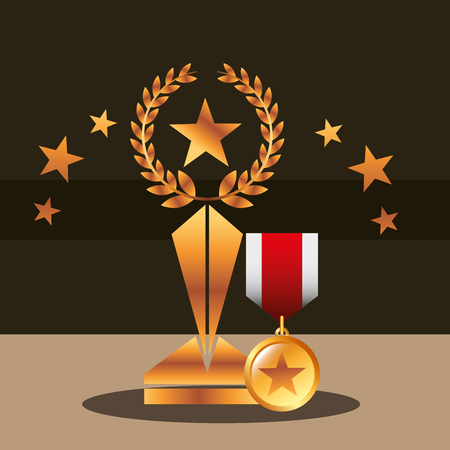 movie awards recognition badge star prize vector illustraiton