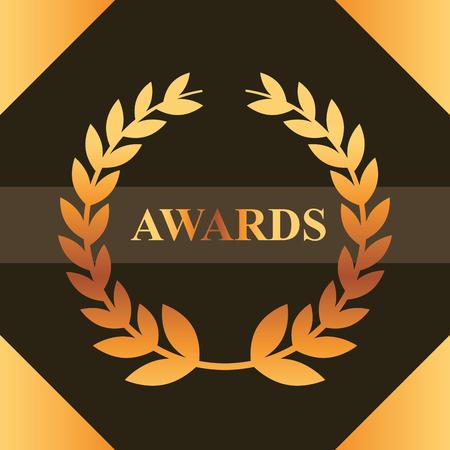 movie awards sign ribbon win frame figure vector illustration Reklamní fotografie - 108480479