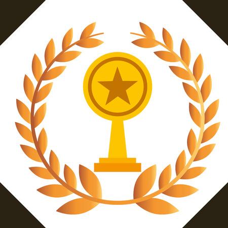 movie awards prize star winner vector illustration Illustration