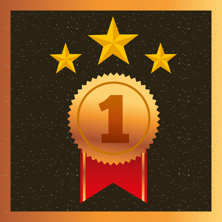 movie awards ribbon ensign star vector illustration