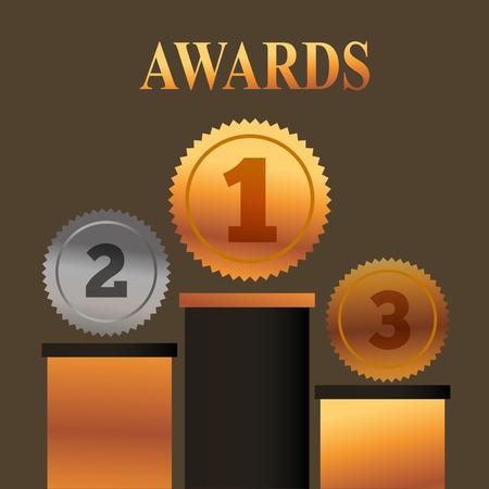 movie awards currency positions winner vector illustration