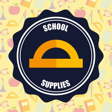 school supplies  label sign rule vector illustration