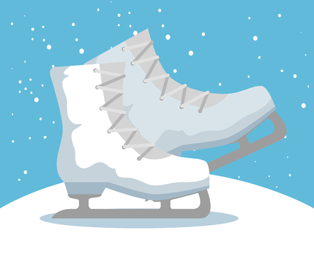 ice skates sport icon vector illustration design Illustration