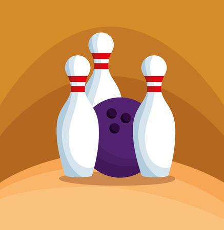 bowling champions league icons vector illustration design Illustration