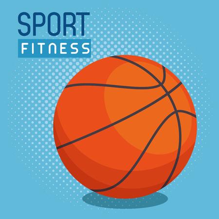 basketball balloon sport icon vector illustration design
