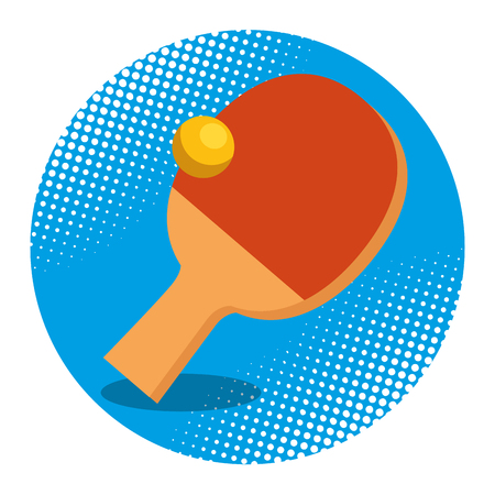 table tennis racket and ball vector illustration design 向量圖像