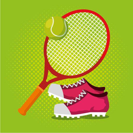 Tennis Sport Champions League Vektor-Illustration Design