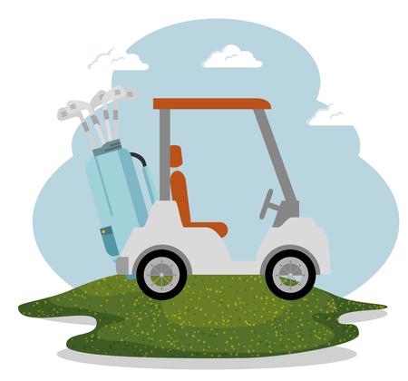 golf sport champions league vector illustration design
