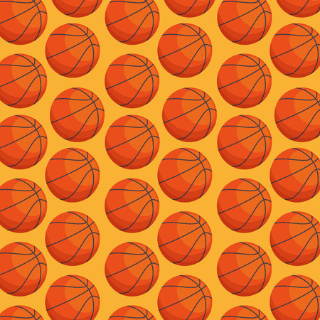 basketball balloon sport pattern vector illustration design Illustration