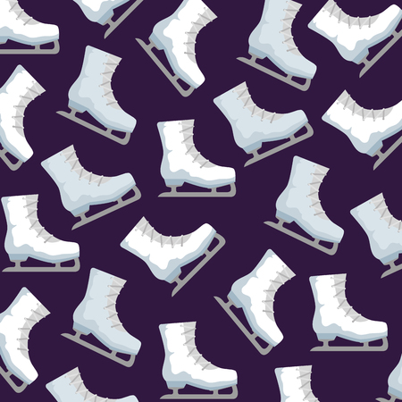 ice skates sport pattern vector illustration design