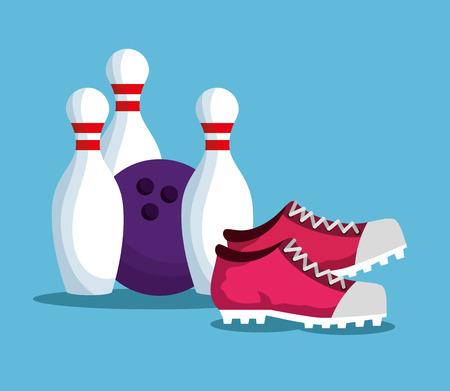 Bowling Champions League Ikonen Vektor-Illustration Design
