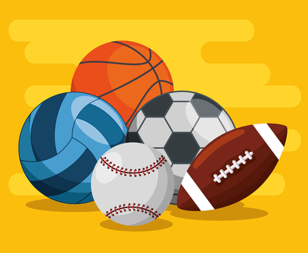 sport balls pattern background vector illustration design Illustration