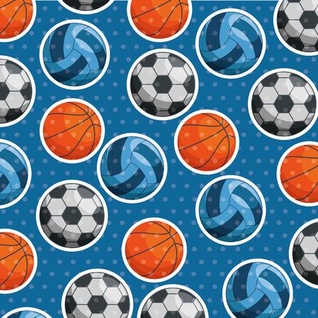 sport balls pattern background vector illustration design Illustration