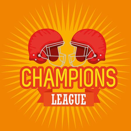 american football champions league vector illustration design